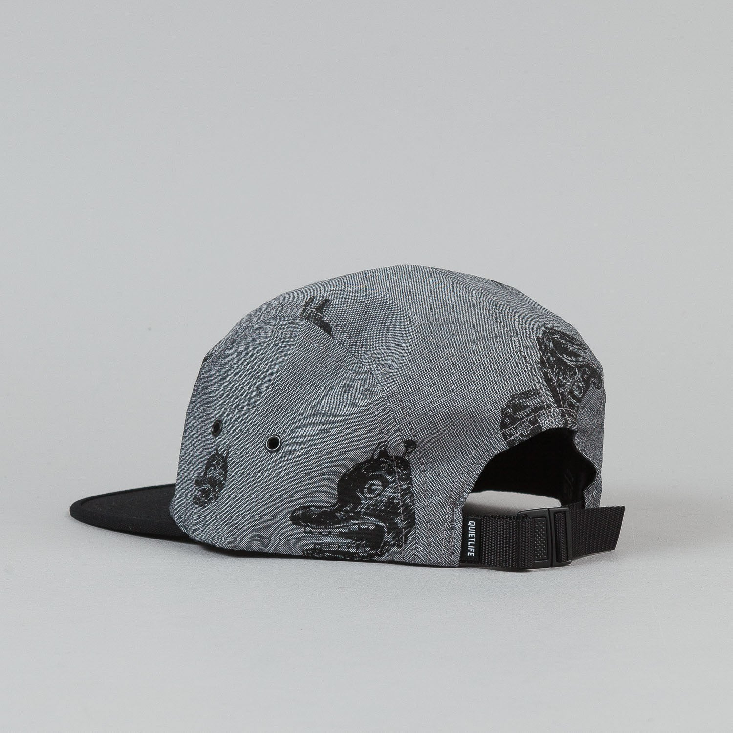 The Quiet Life Fudge Dog 5 Panel Cap - Black Bill