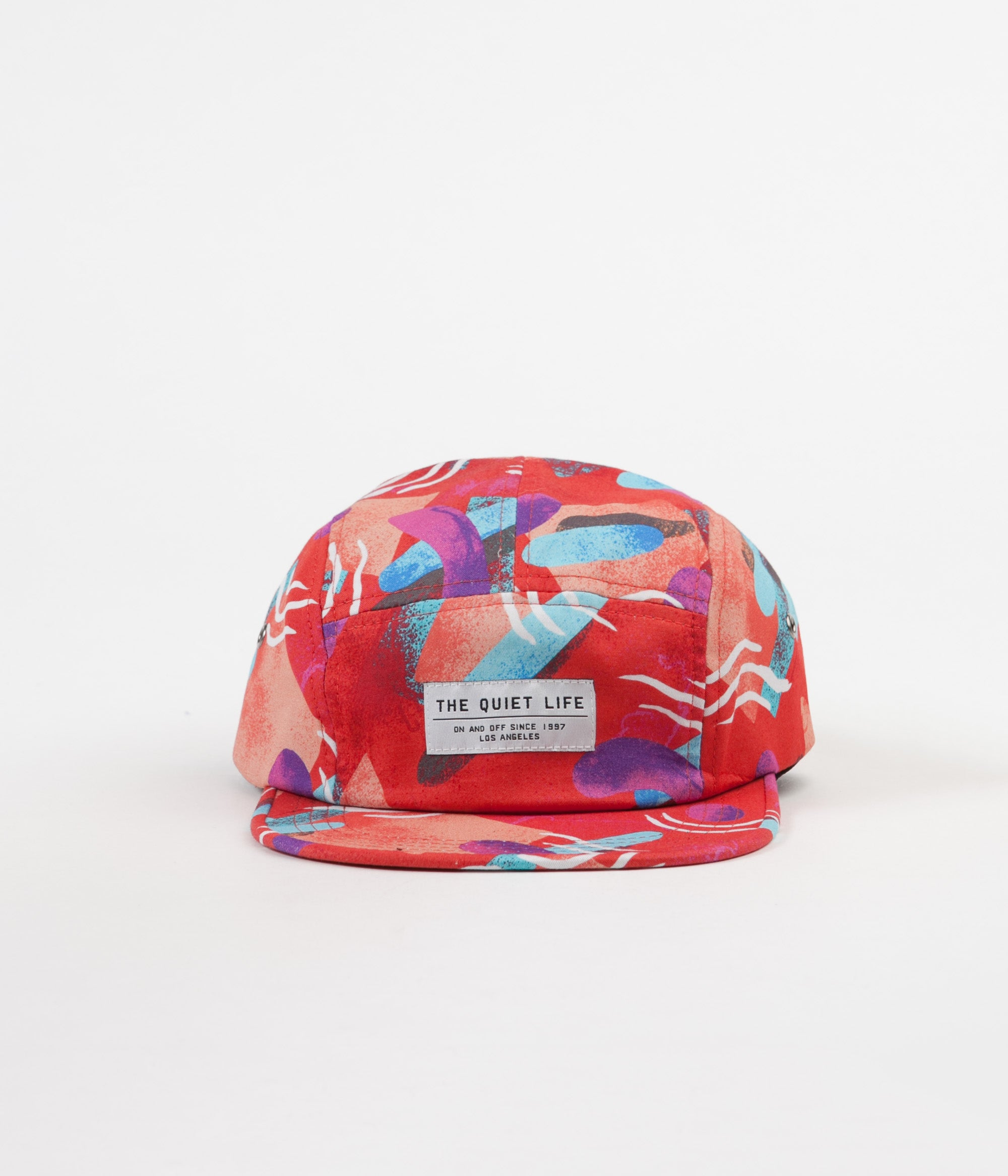 The Quiet Life Gibbler 5 Panel Camp Cap - Red