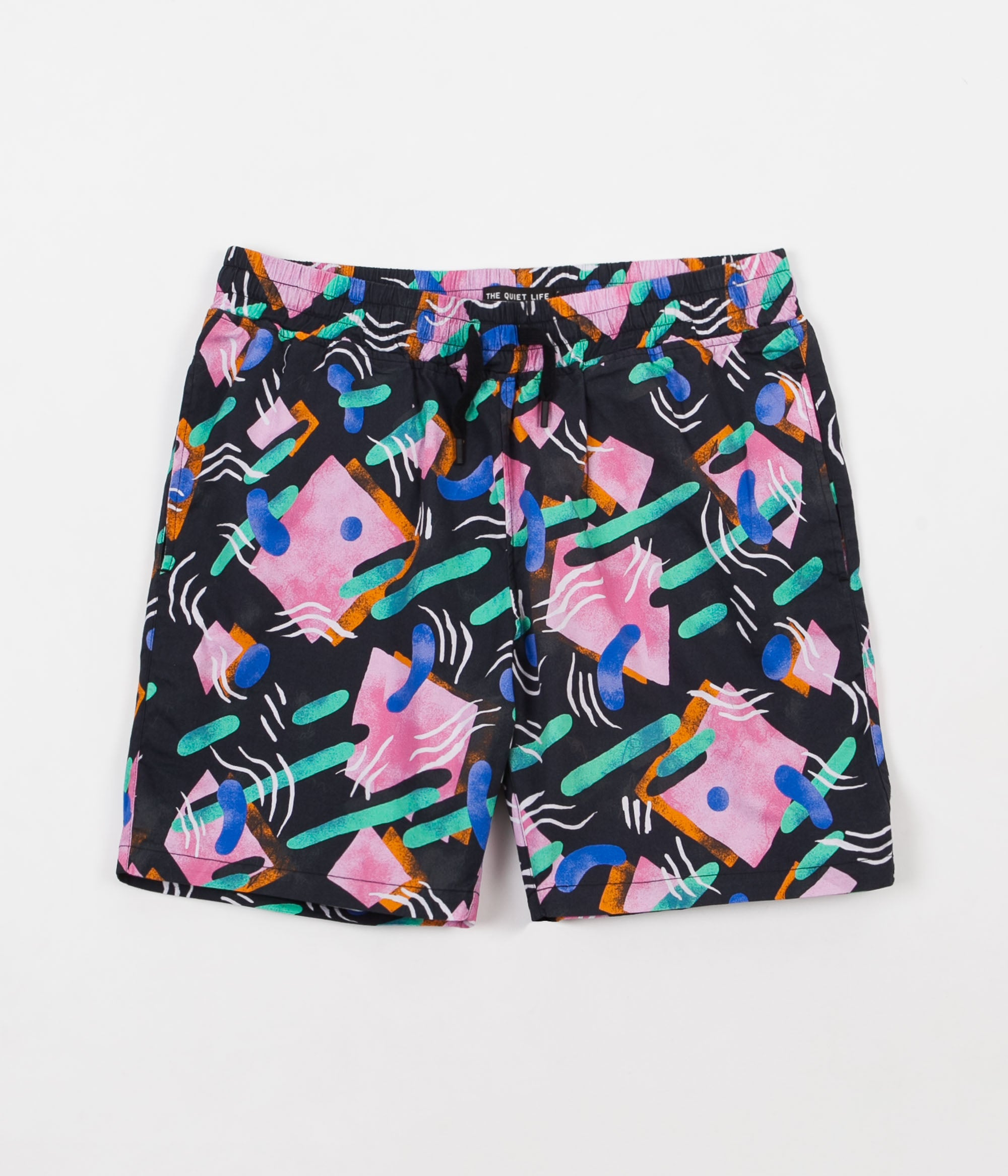The Quiet Life Gibbler Beach Shorts - Black