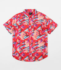 The Quiet Life Gibbler Button Down Short Sleeve Shirt - Red