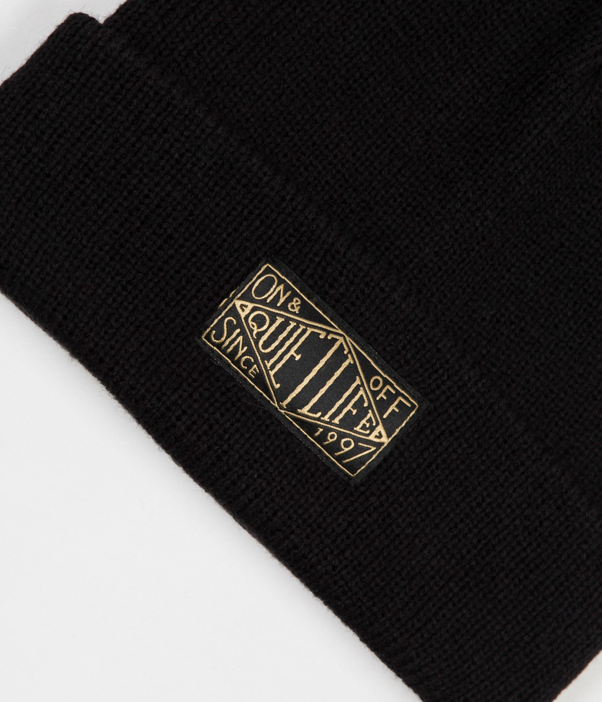 The Quiet Life Gold Label Beanie - Black