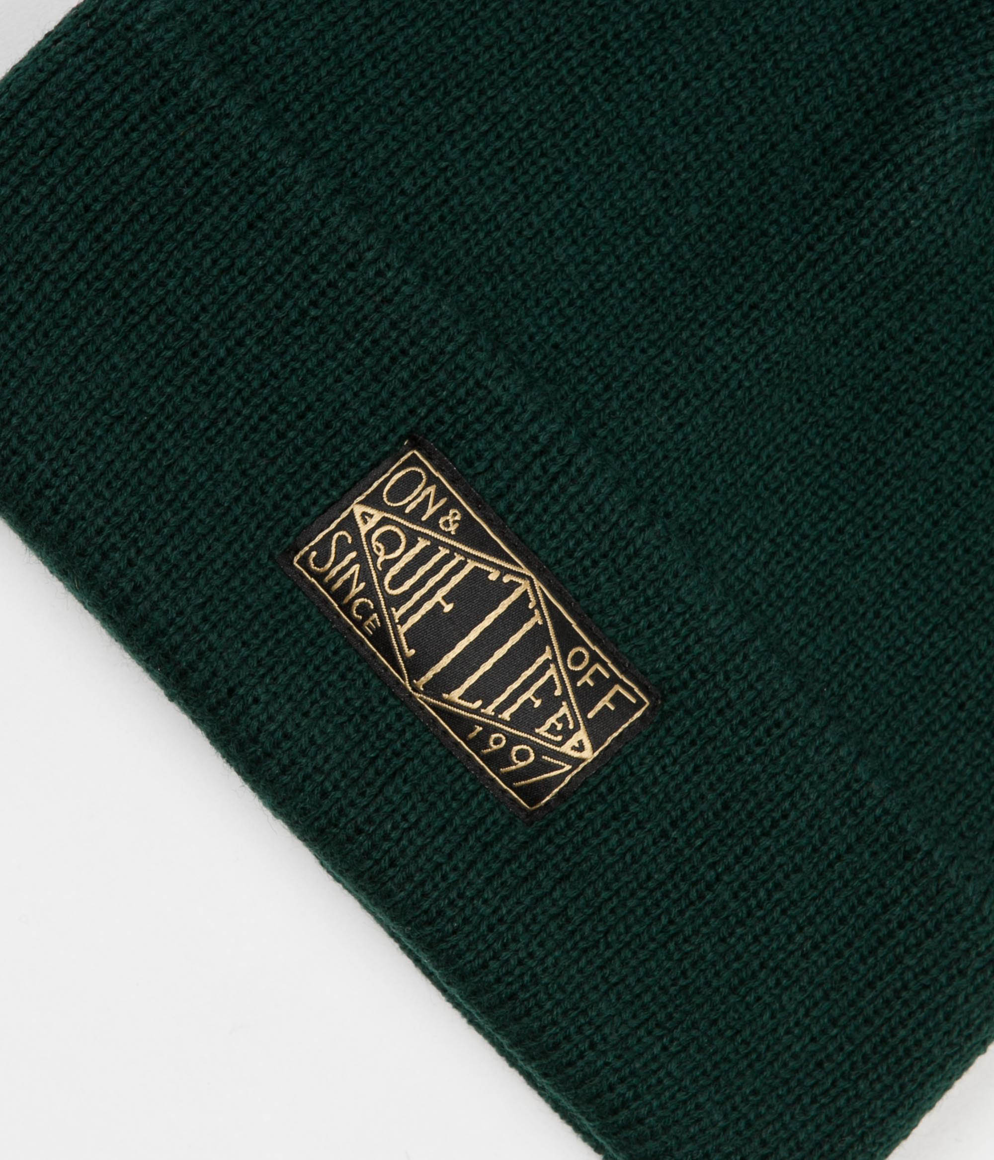 The Quiet Life Gold Label Beanie - Forest
