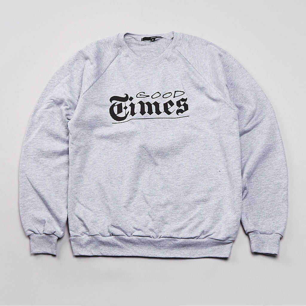 The Quiet Life Good Times Sweatshirt Heather Grey