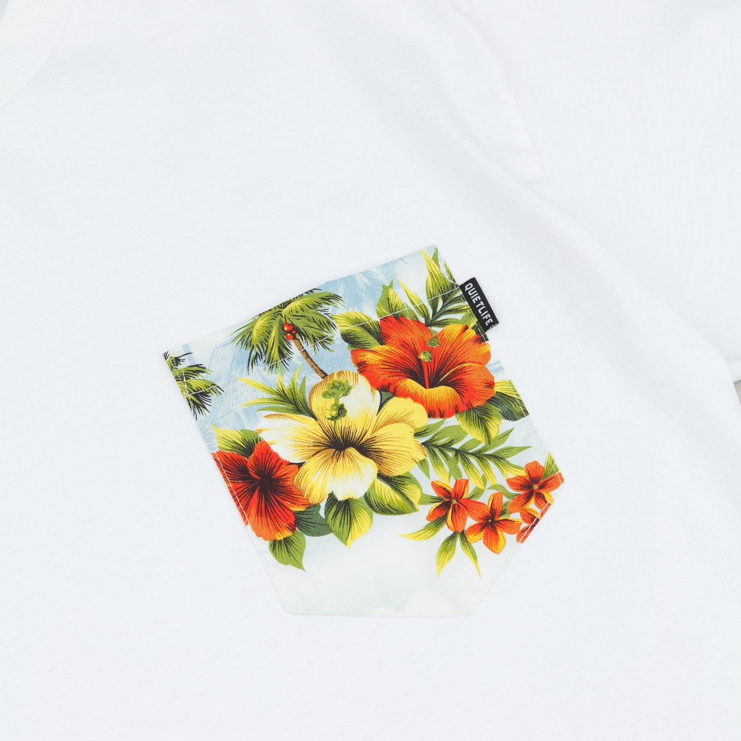 The Quiet Life Hawaiian Pocket T-Shirt - White