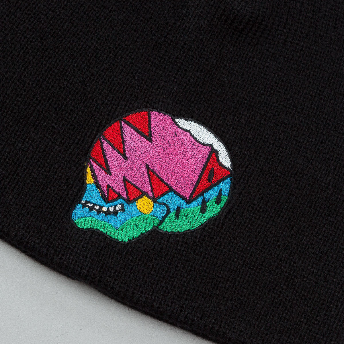 The Quiet Life Herndon Skull Beanie - Black