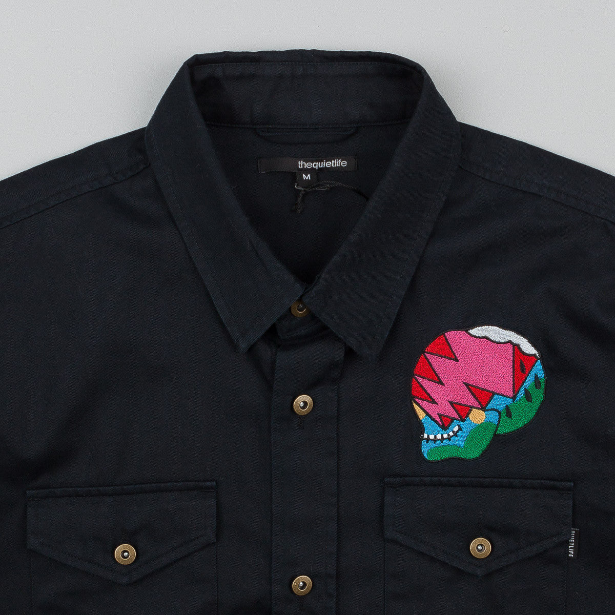 The Quiet Life Herndon Skull Workshirt - Black
