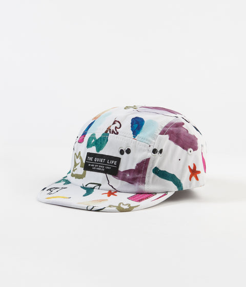 The Quiet Life Hoeckel 5 Panel Cap - White