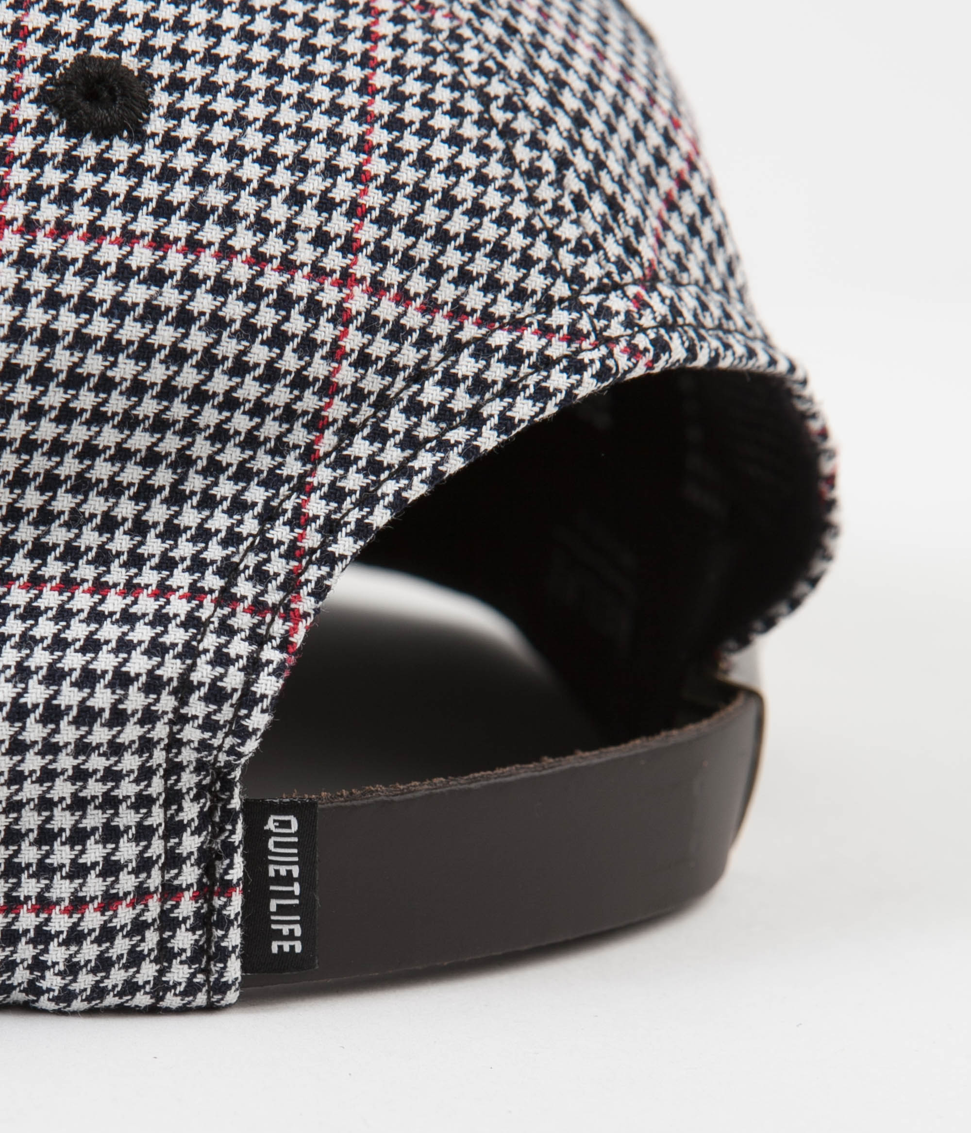 The Quiet Life Houndstooth Polo Cap - Black / White