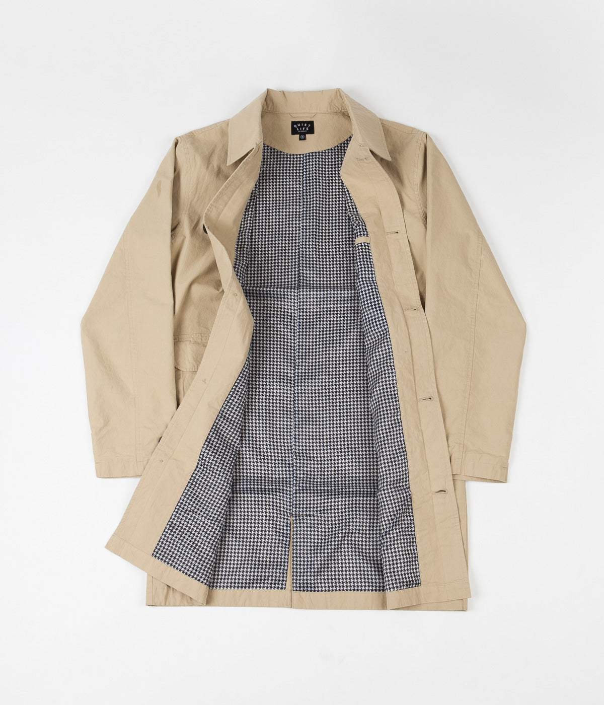 The Quiet Life Houndstooth Trench Jacket - Tan