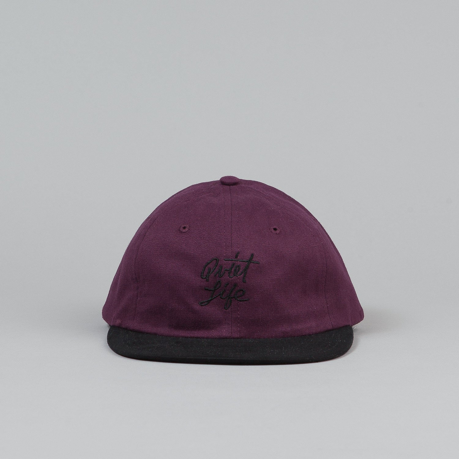 The Quiet Life Hudson Polo Cap - Maroon Crown