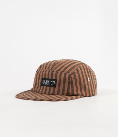 The Quiet Life Indio 5 Panel Camper Cap - Cocoa