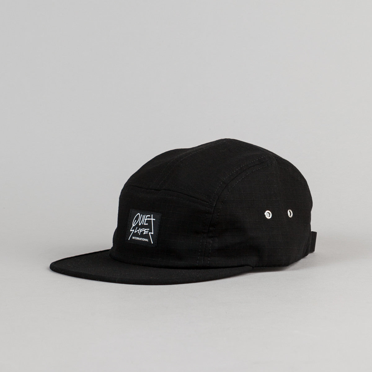 The Quiet Life International 5 Panel Cap - Black