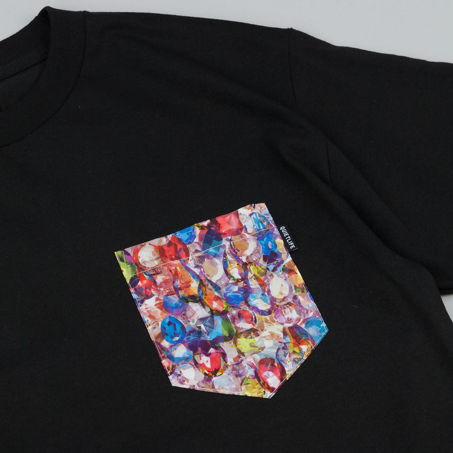 The Quiet Life Jewel Pocket T-Shirt - Black
