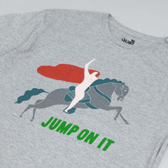 The Quiet Life Jump On It Premium T Shirt Heather Grey