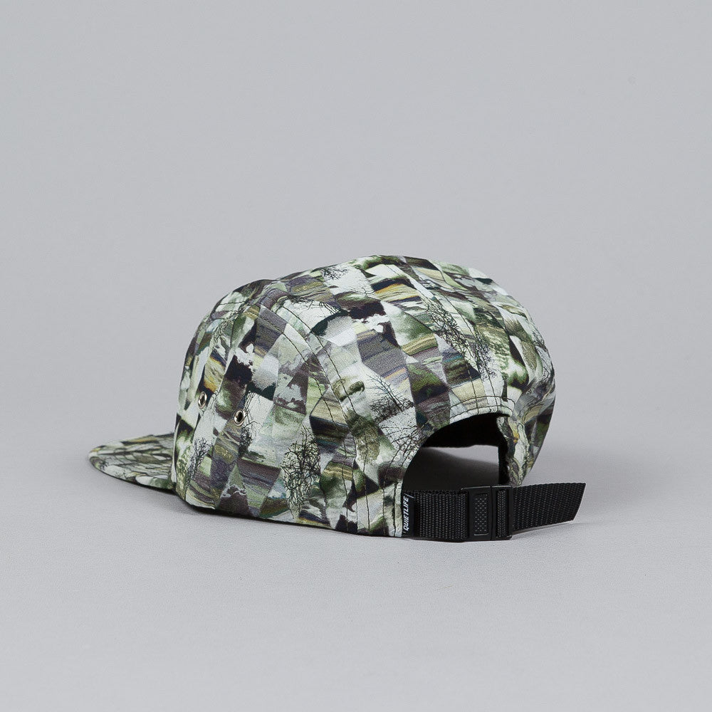The Quiet Life Kaleidoscope 5 Panel Cap Green / Black