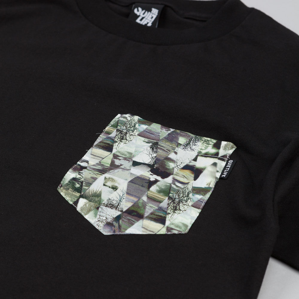 The Quiet Life Kaleidoscope Pocket T Shirt Black
