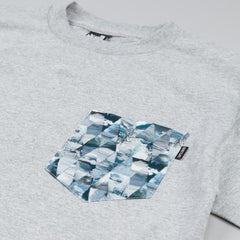 The Quiet Life Kaleidoscope Pocket T Shirt Heather Grey