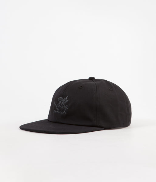 The Quiet Life Kenney Polo Cap - Black  b46800f2483