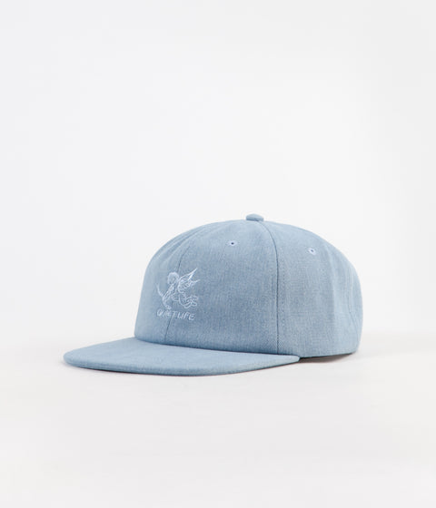 4892079a0c0a7 The Quiet Life Kenney Polo Cap - Light Denim