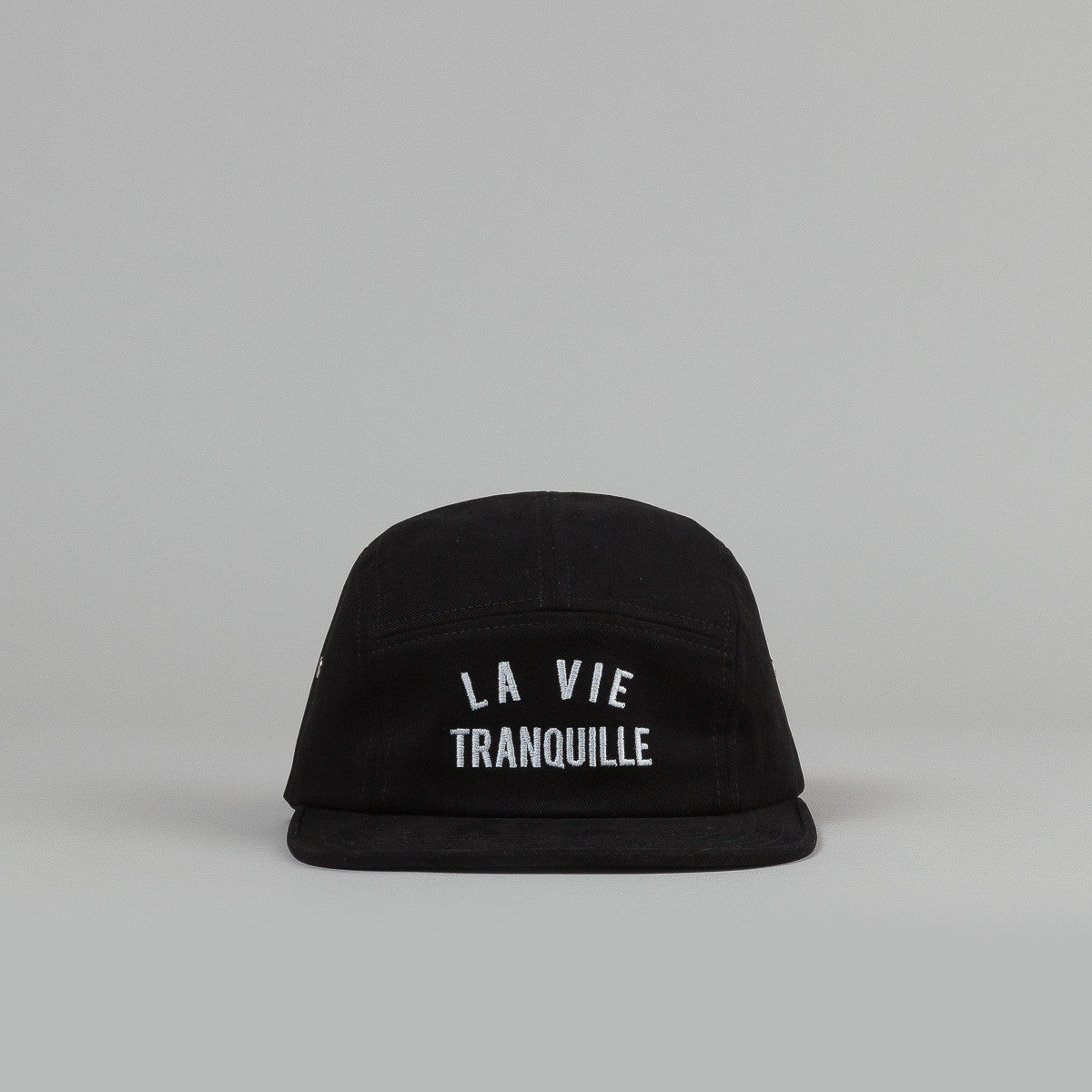 The Quiet Life La Vie 5 Panel Cap - Black