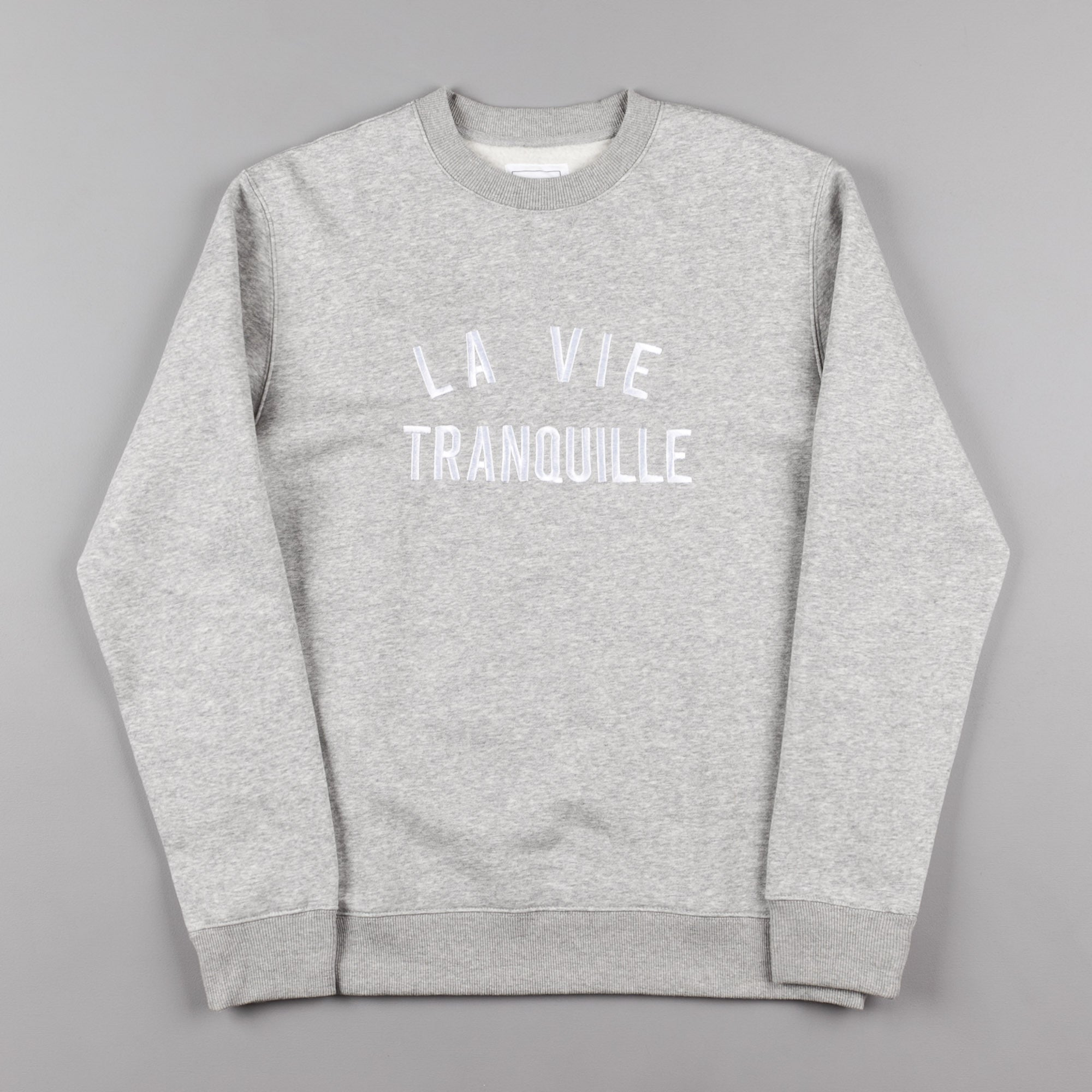 The Quiet Life La Vie Tranquille Crewneck Sweatshirt - Heather Grey