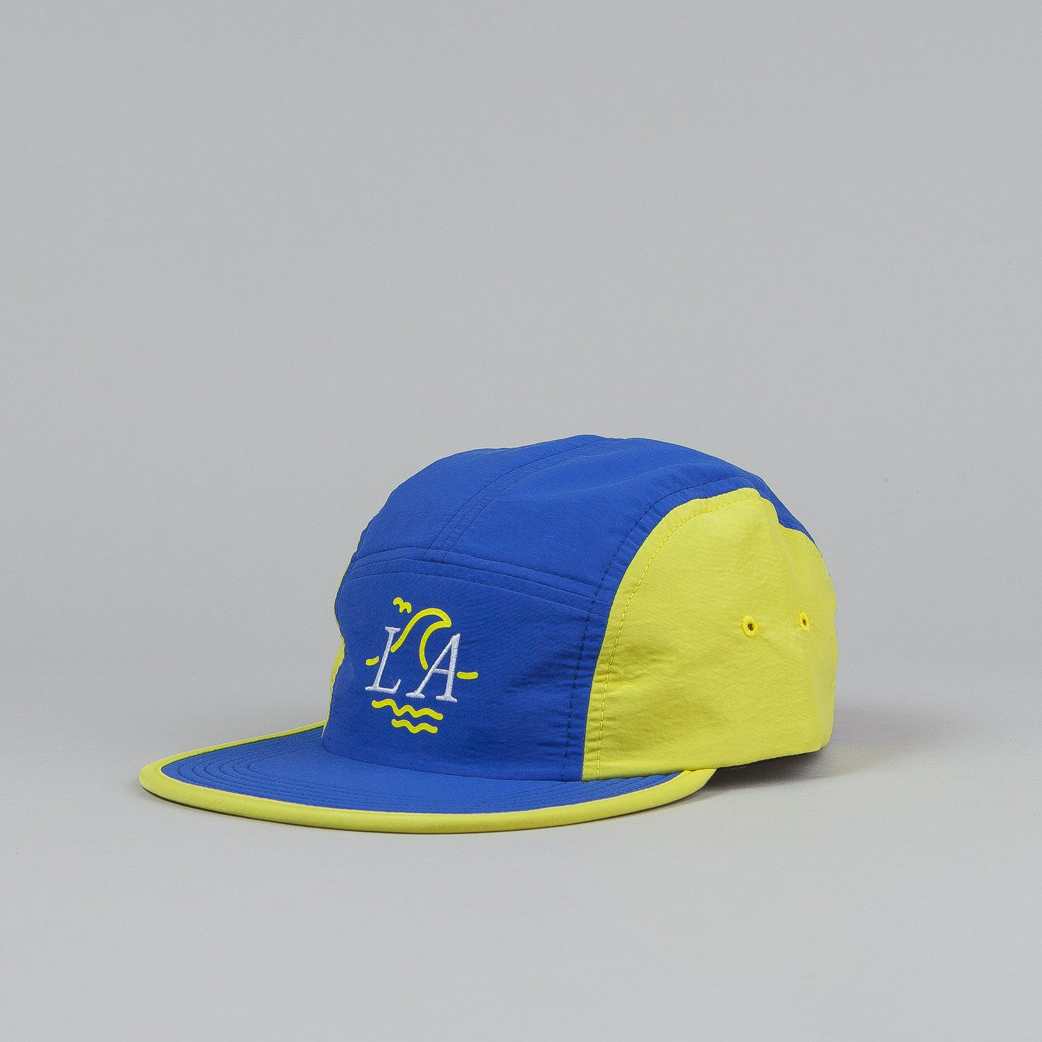 The Quiet Life LA Wave 5 Panel Cap - Royal