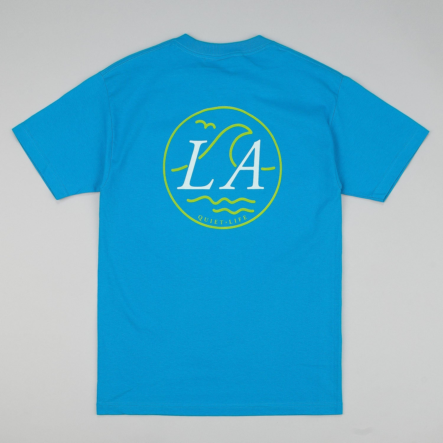 The Quiet Life LA Wave Pocket T-Shirt - Turquoise