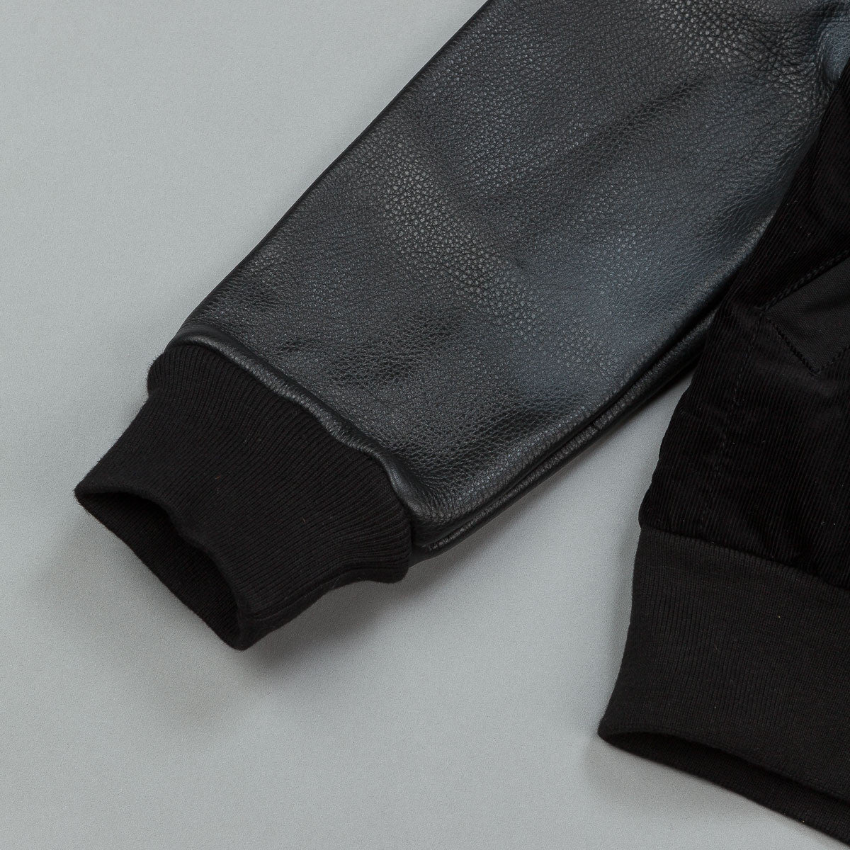 The Quiet Life Leather Arm Coach Jacket - Black