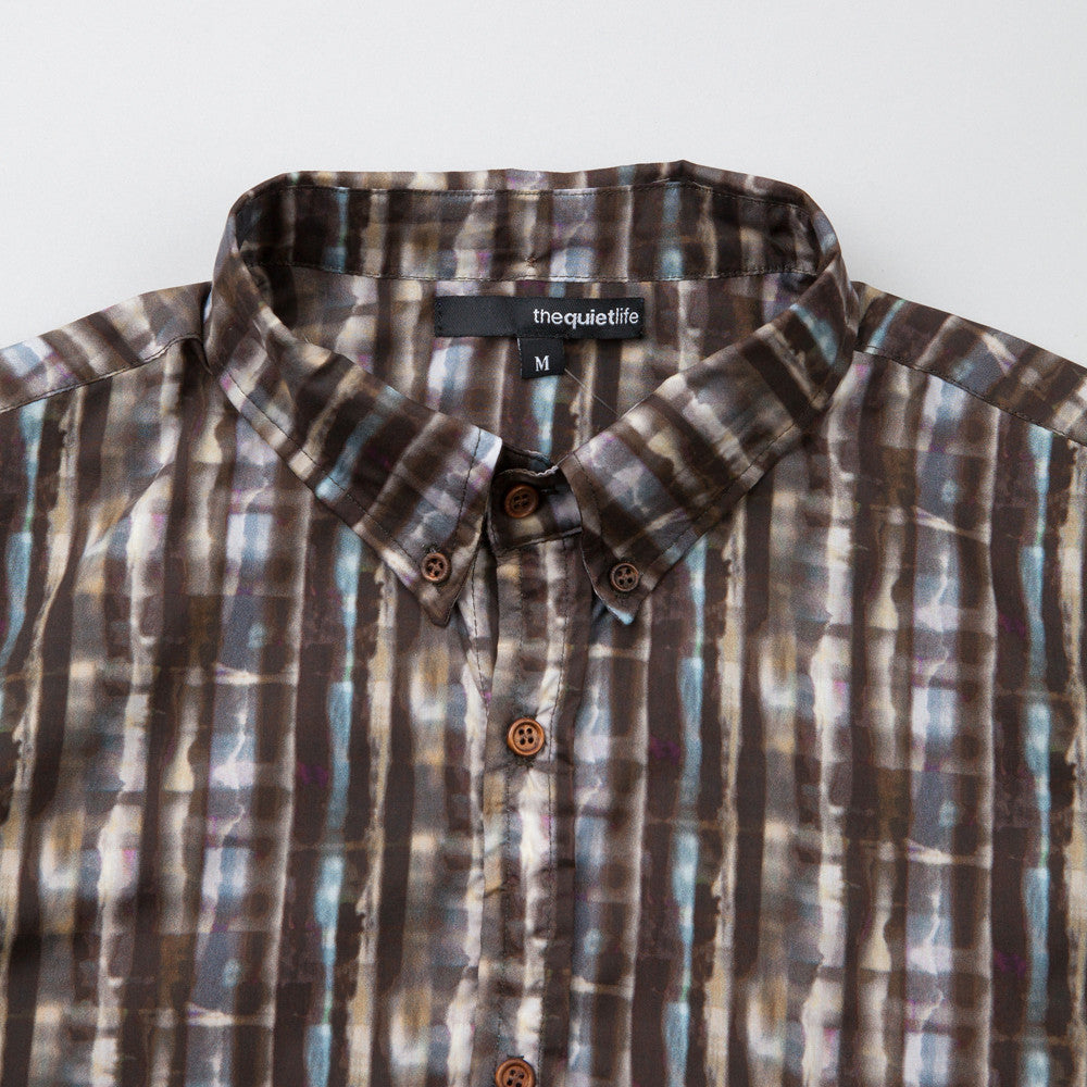 The Quiet Life Liberty Batik Shirt Grey / Blue
