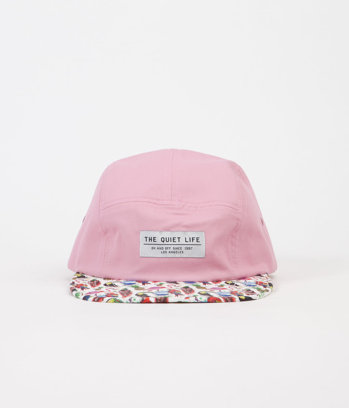 The Quiet Life Liberty Birds Of Paradise 5 Panel Cap - Pink Upper