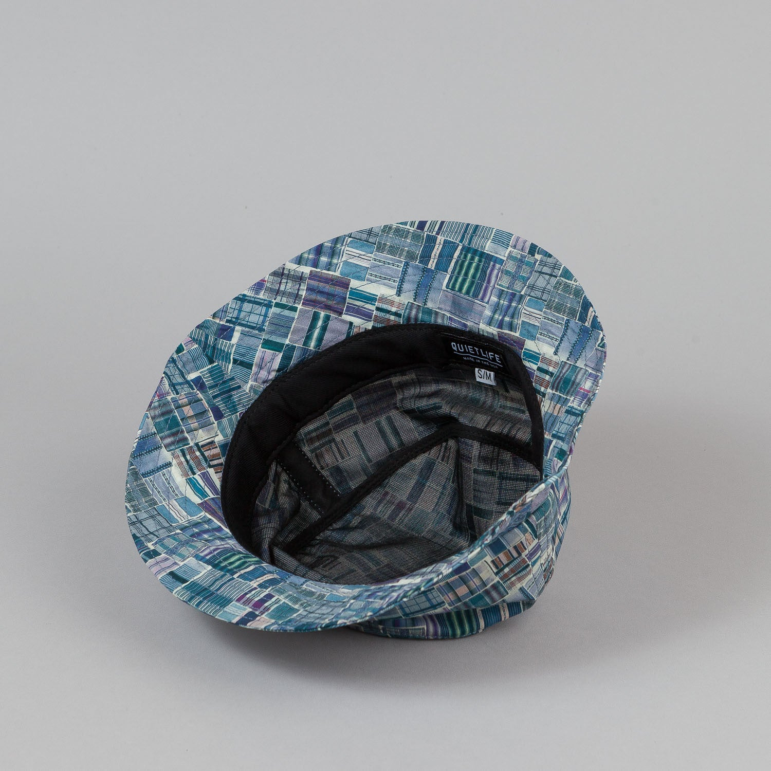 The Quiet Life Liberty Madras Bucket Hat - Blue