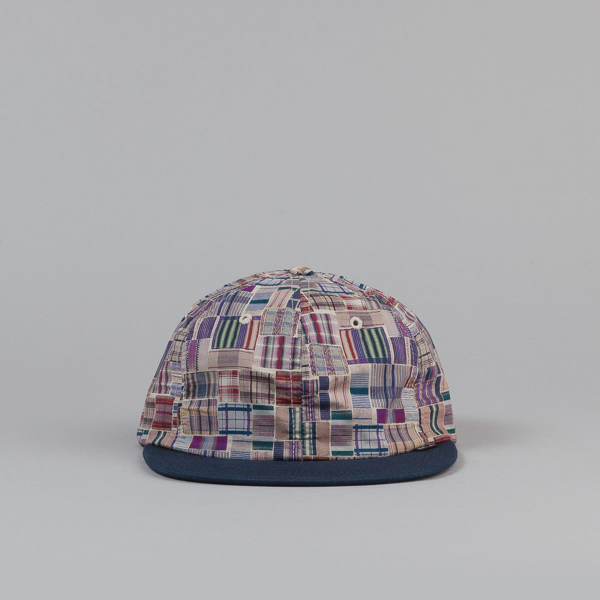 The Quiet Life Liberty Madras Polo Cap - Blue Bill
