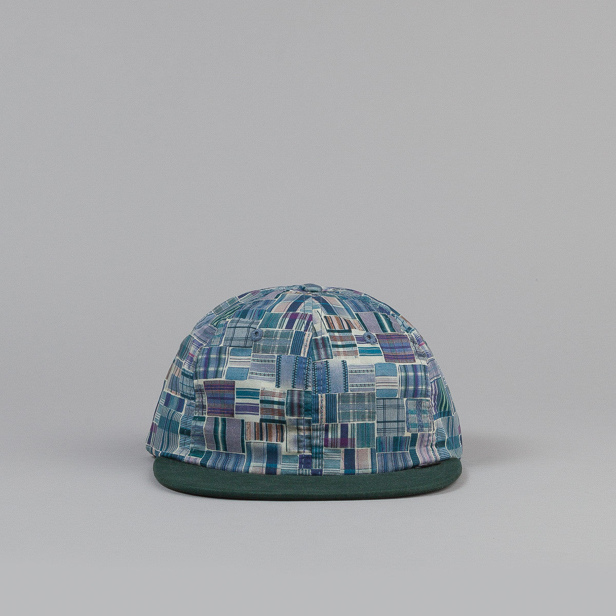 The Quiet Life Liberty Madras Polo Cap - Green Bill