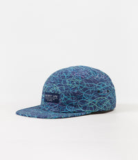 The Quiet Life Liberty Of London Swirl 5 Panel Cap - Navy
