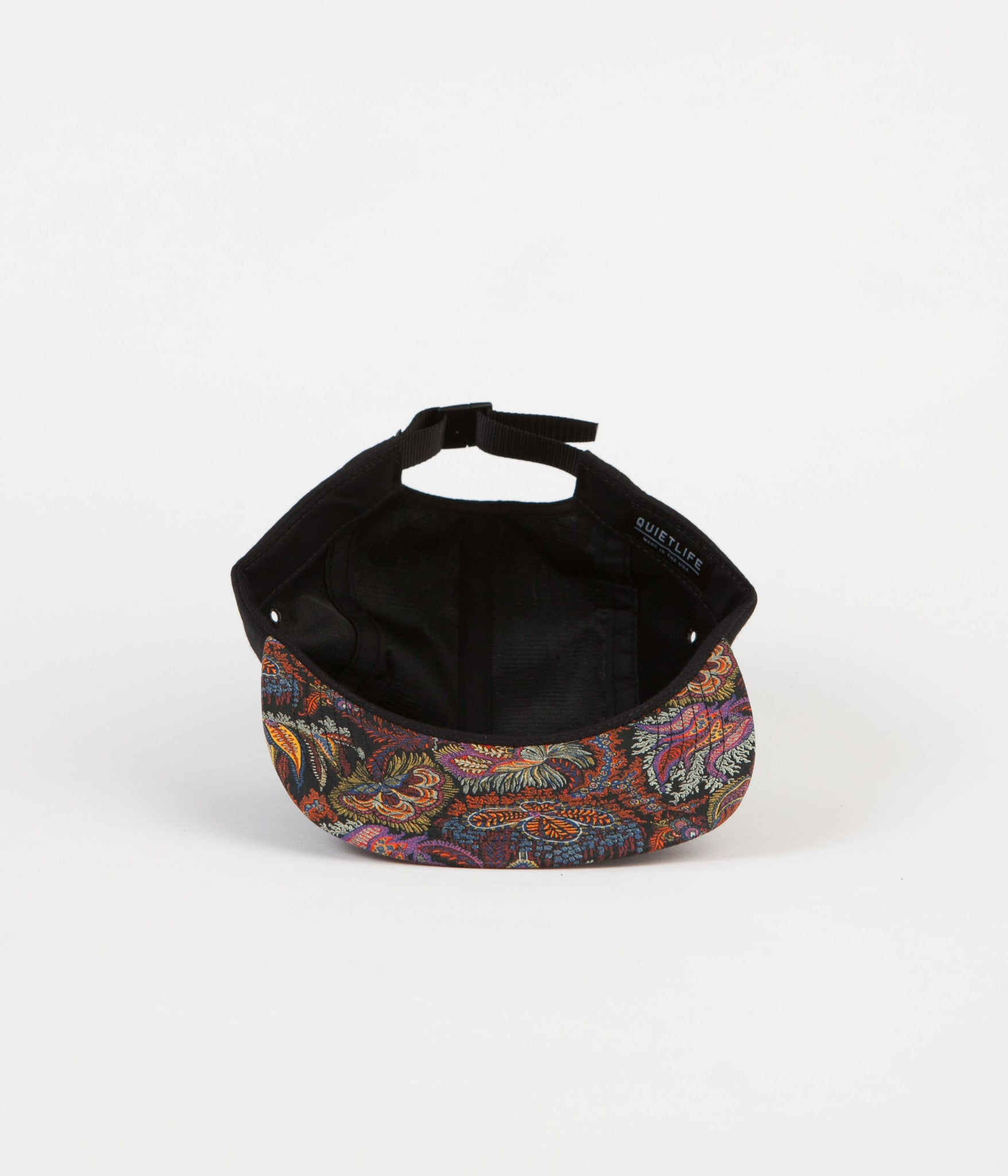 The Quiet Life Liberty Paisley Coral Polo Cap - Black Upper