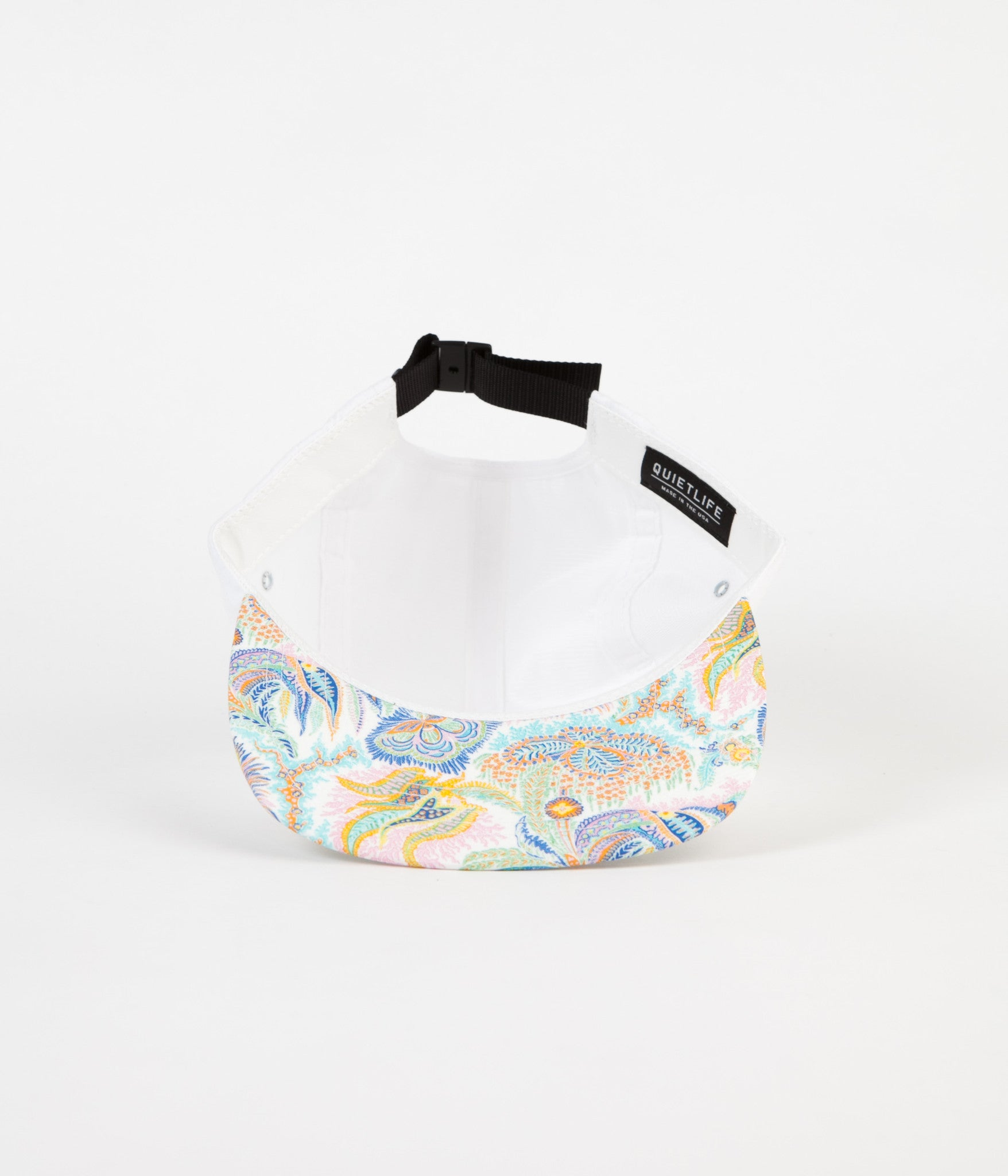 The Quiet Life Liberty Paisley Coral Polo Cap - White Upper
