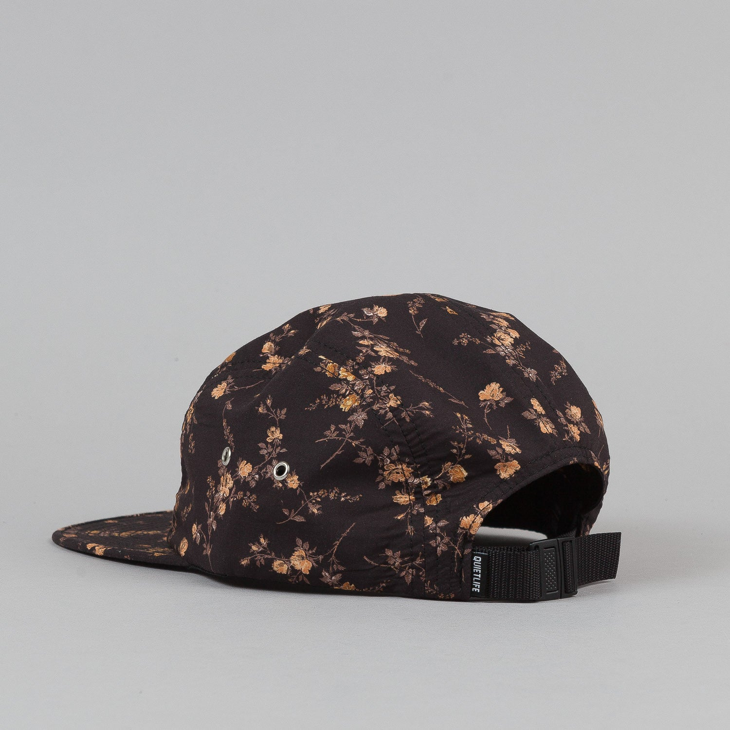 The Quiet Life Liberty Rose 5 Panel Cap - All Black
