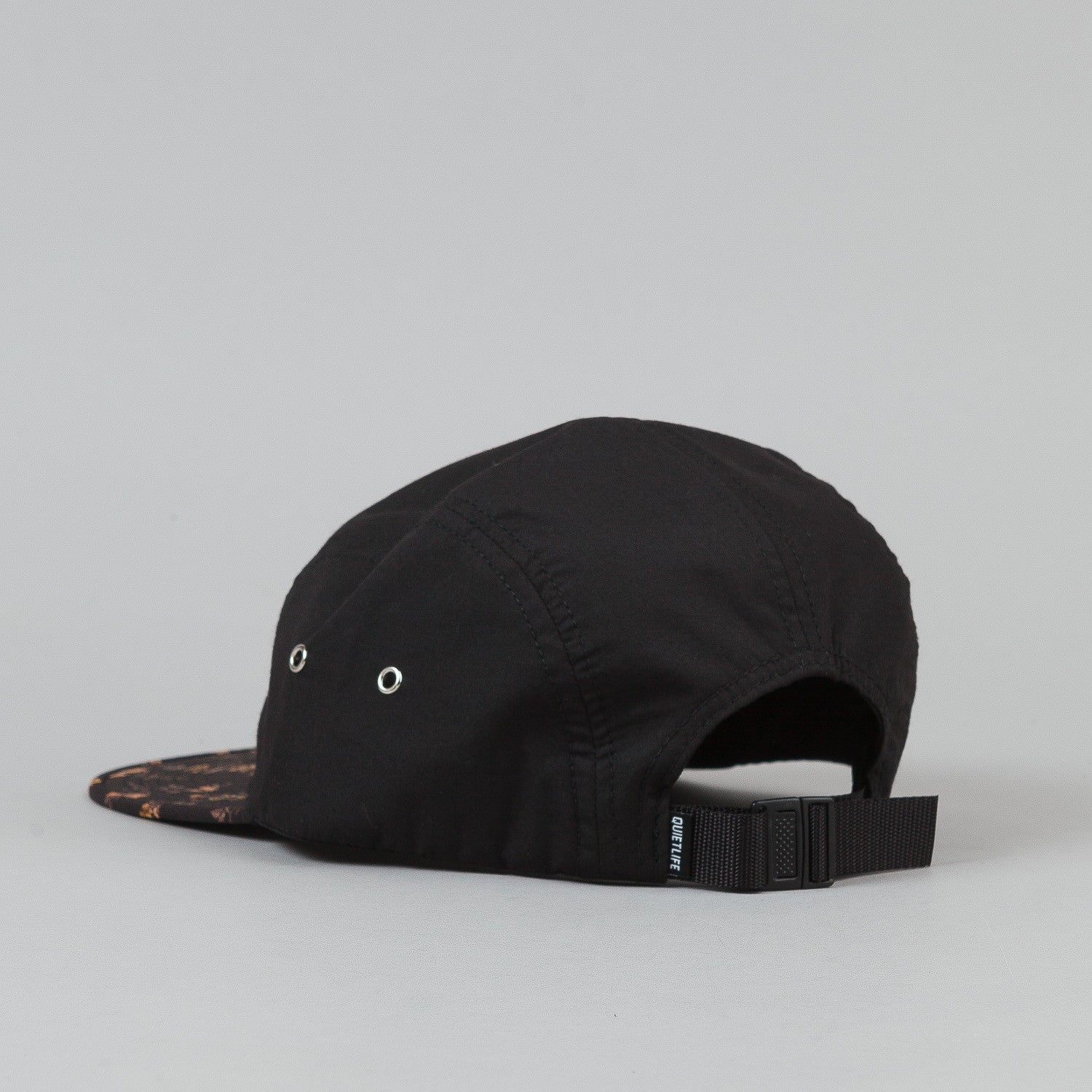 The Quiet Life Liberty Rose 5 Panel Cap - Black Upper