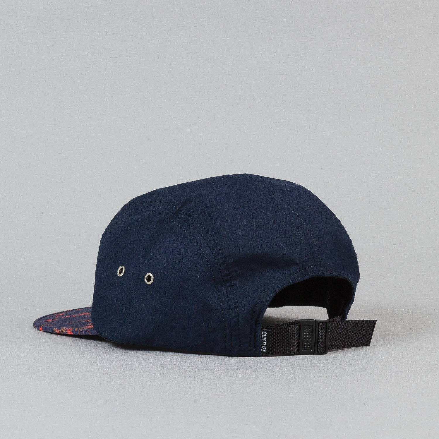 The Quiet Life Liberty Rose 5 Panel Cap - Navy Upper