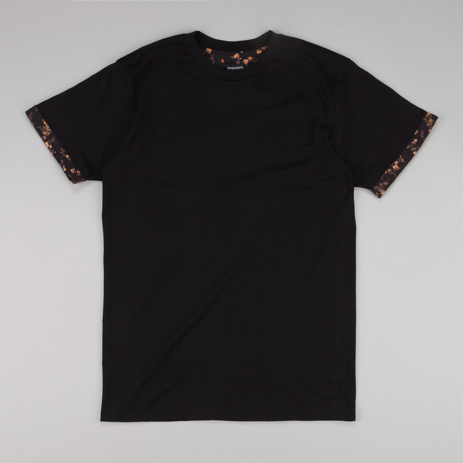 The Quiet Life Liberty Rose Cuff T-Shirt - Black