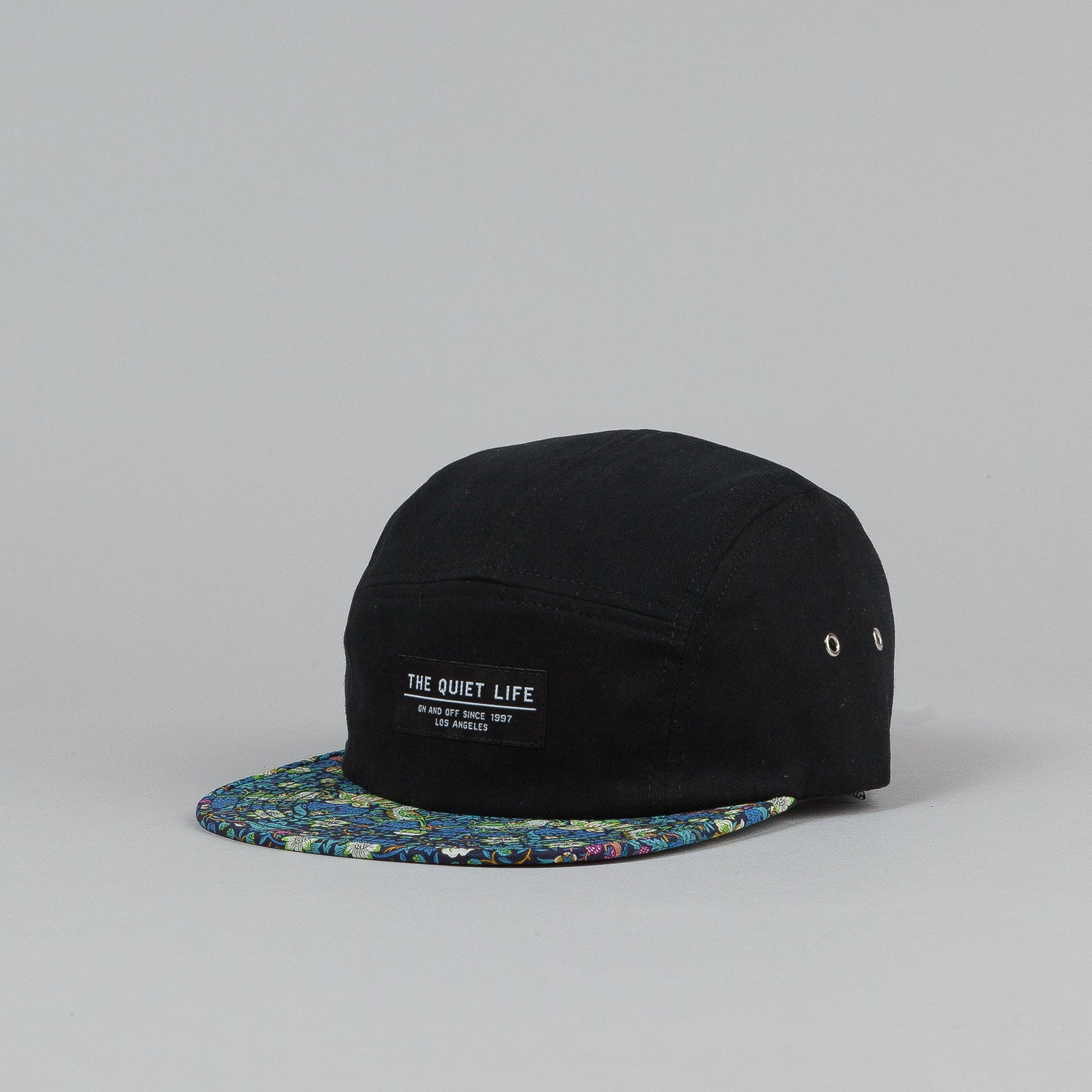 The Quiet Life Liberty Strawberry 5 Panel Cap - Strawberry Bill / Black Upper