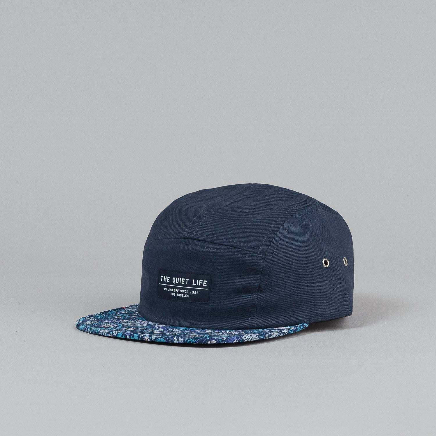 The Quiet Life Liberty Strawberry 5 Panel Cap - Strawberry Bill / Navy Upper