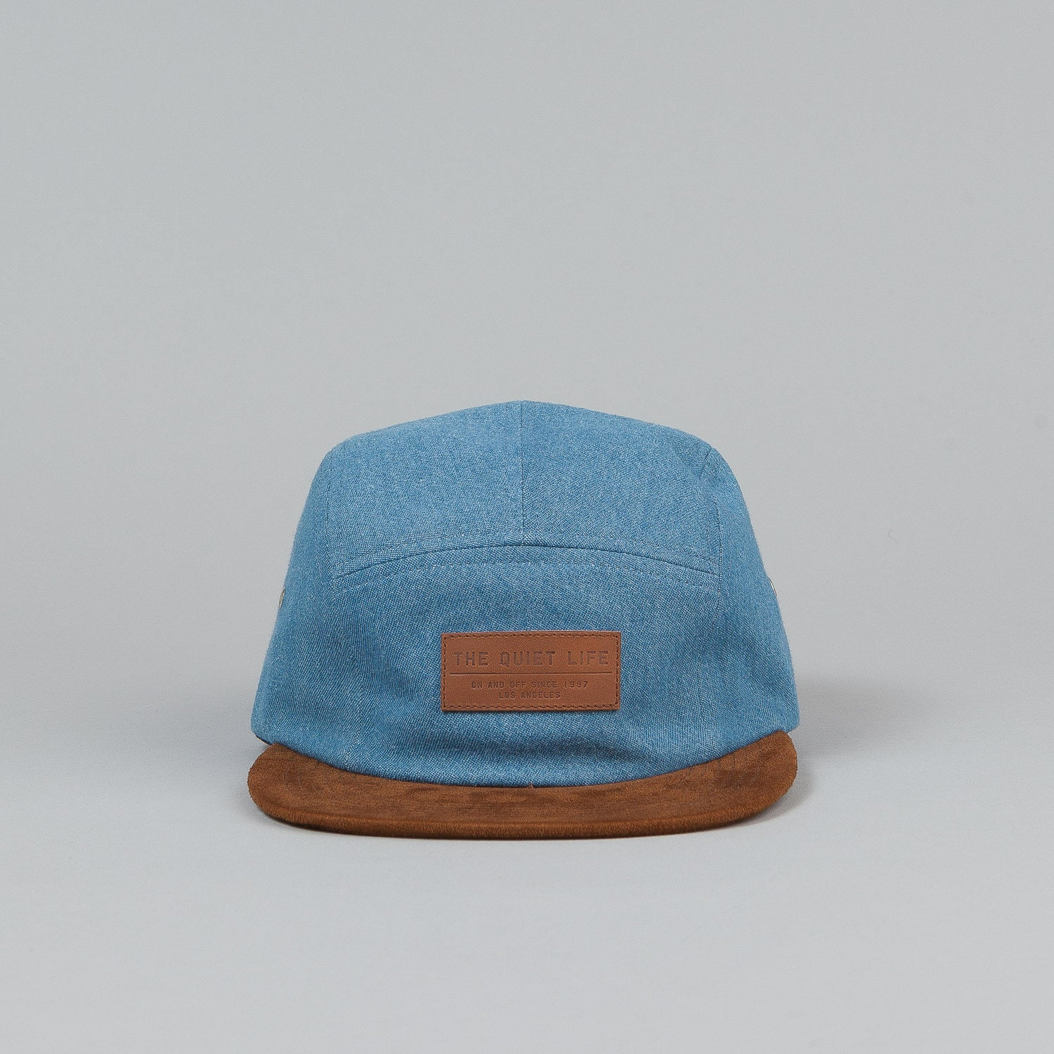 The Quiet Life Light Denim 5 Panel Cap - Denim