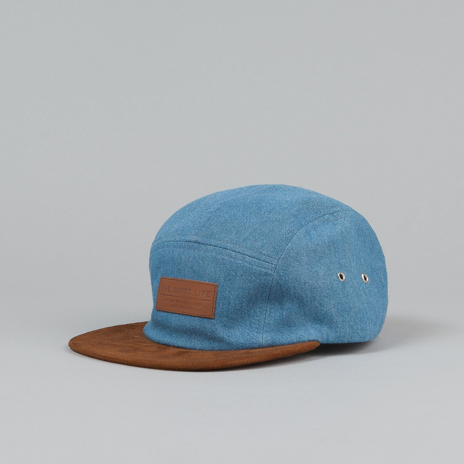 The Quiet Life Light Denim 5 Panel Cap