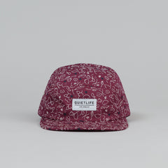 The Quiet Life Lilac 5 Panel Cap - Red