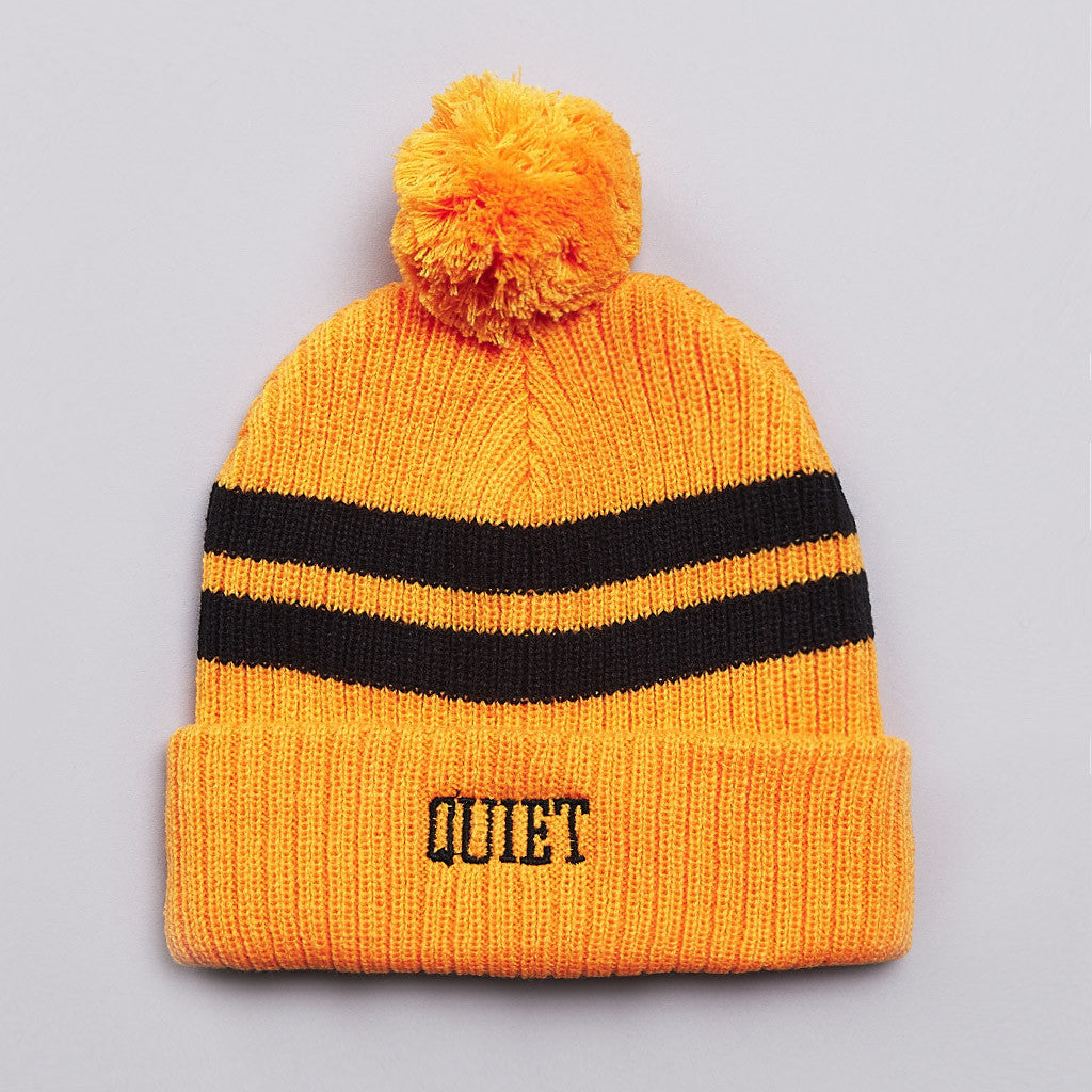 The Quiet Life Madison Beanie Yellow Orange / Black