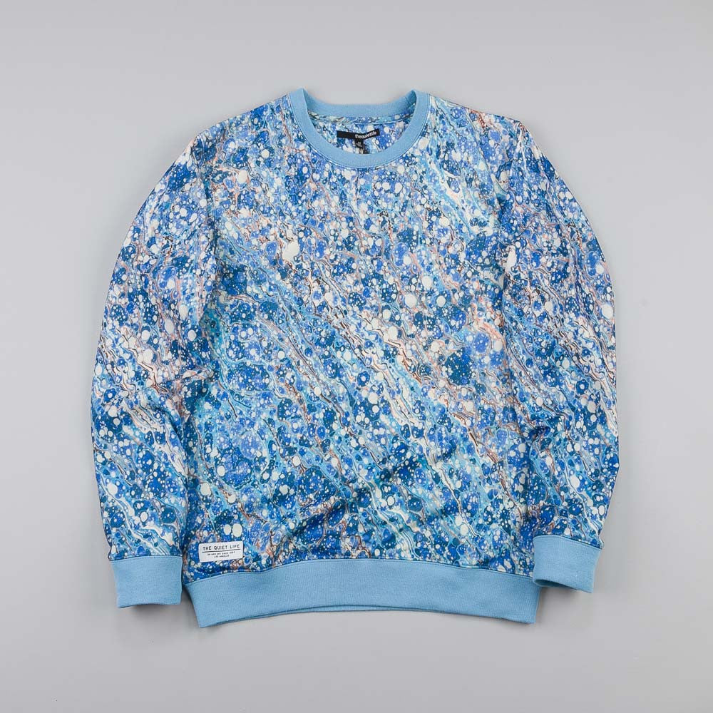 The Quiet Life Marble Crew Neck Blue / Grey