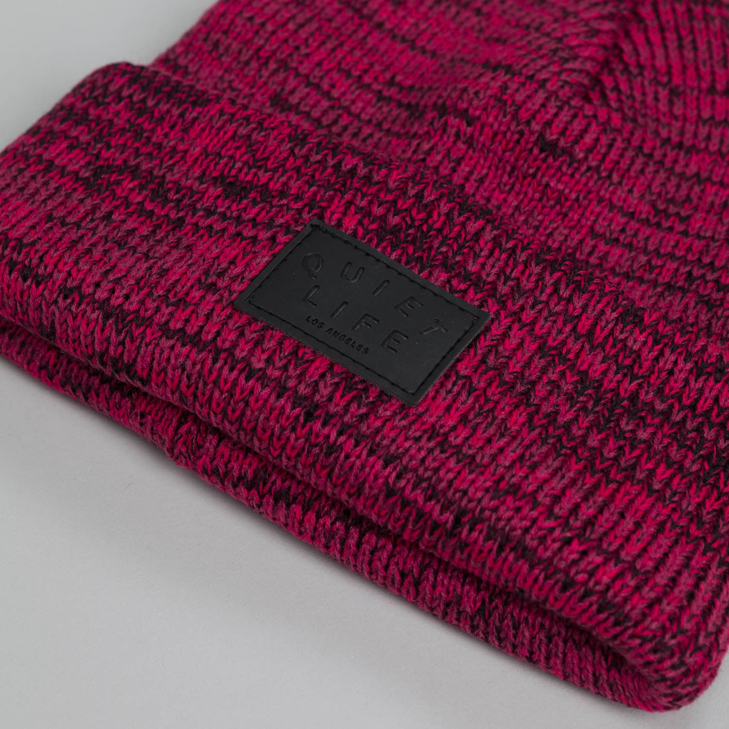 The Quiet Life Marled Beanie Red / Black