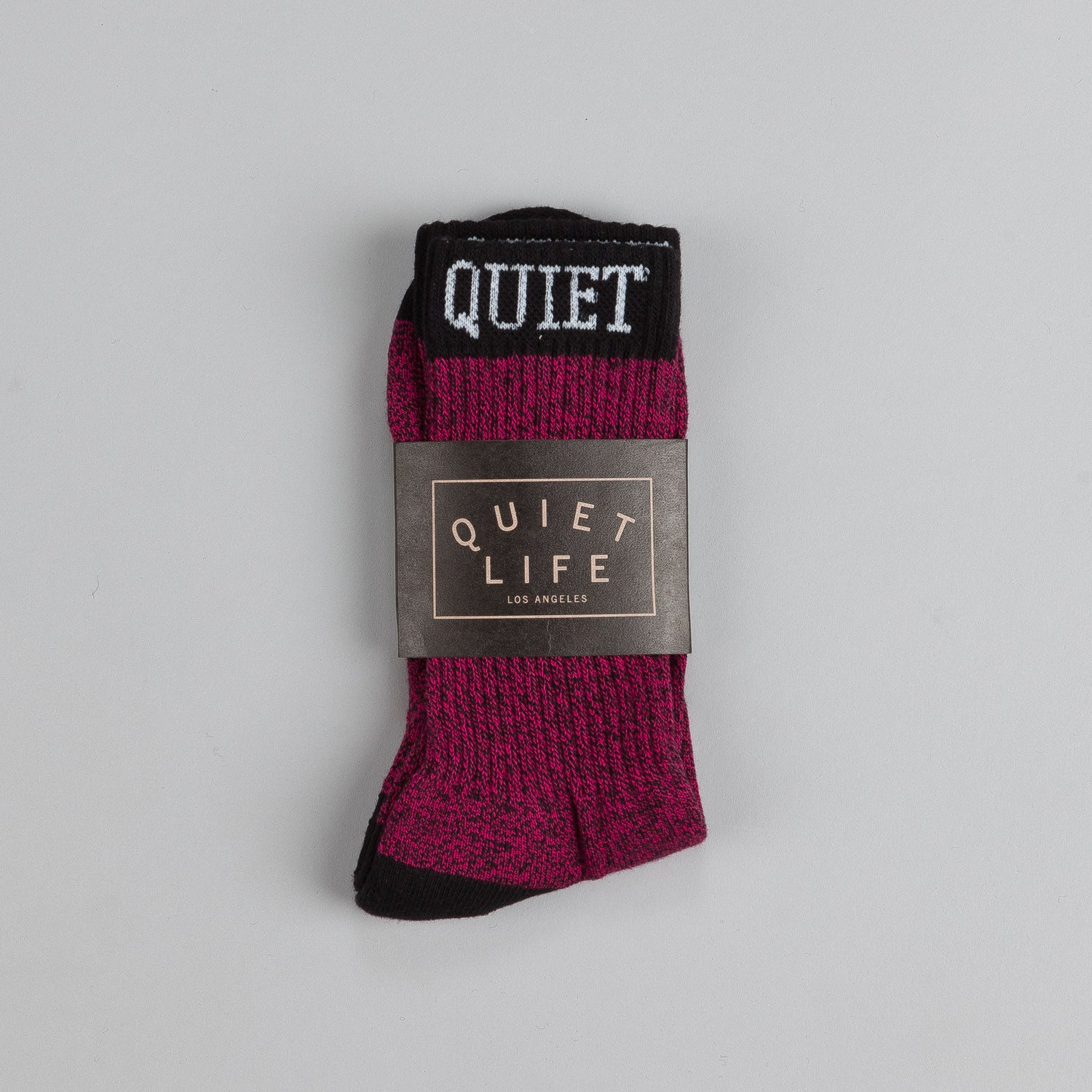 The Quiet Life Marled Sock Red / Black