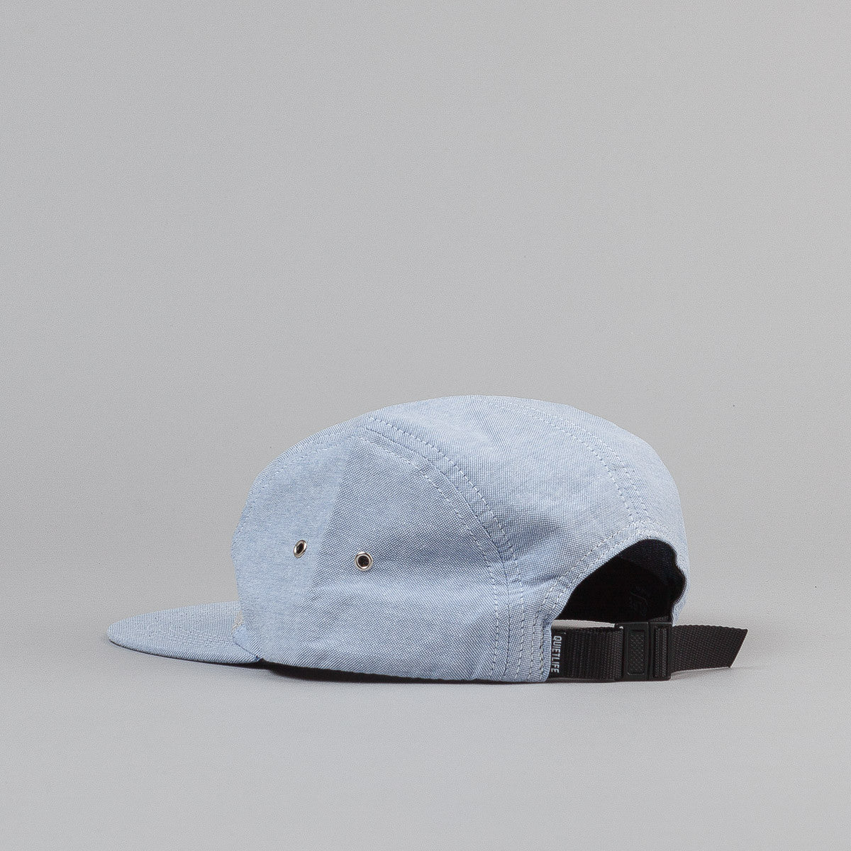 The Quiet Life Mixed Panel Oxford 5 Panel Cap - Blue / Grey